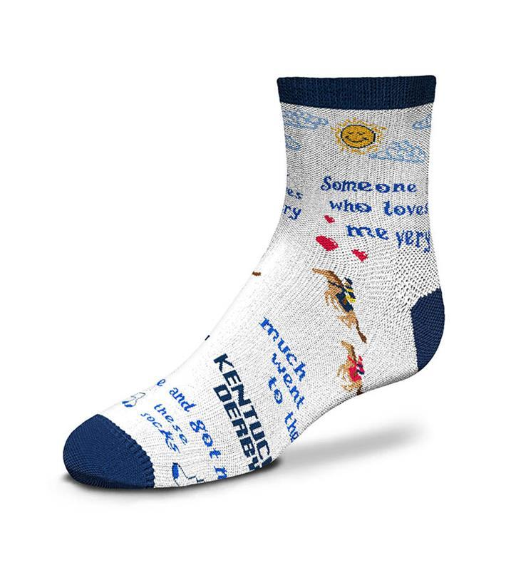 Kentucky Derby Someone Who Loves Me Toddler Sock,889536602274-903