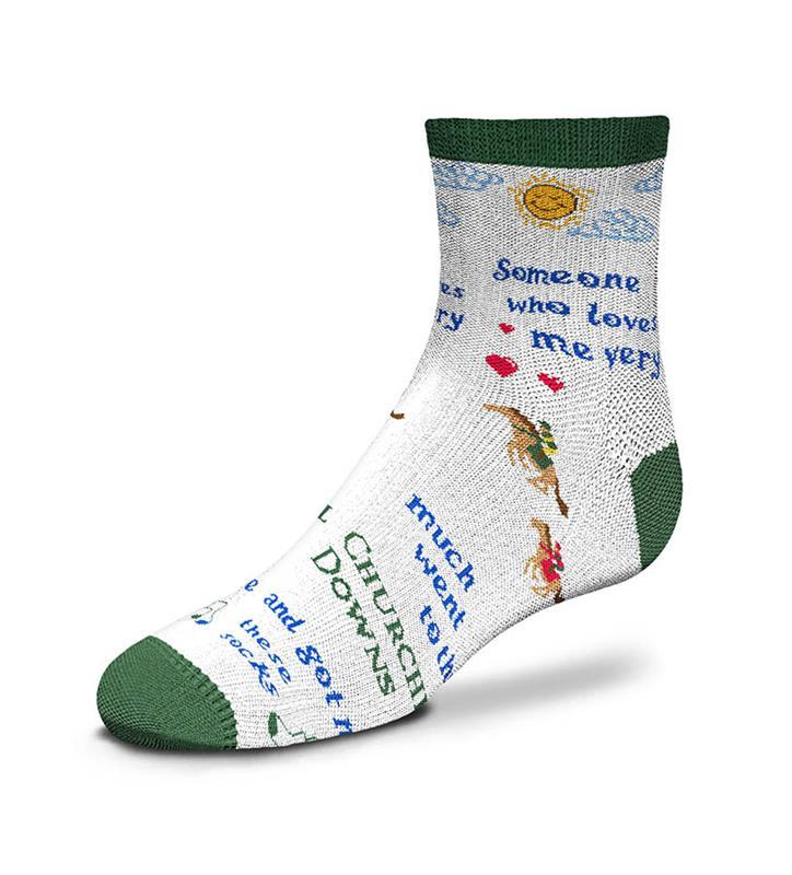 Churchill Downs Someone Who Loves Me Youth Sock,889536602311-903