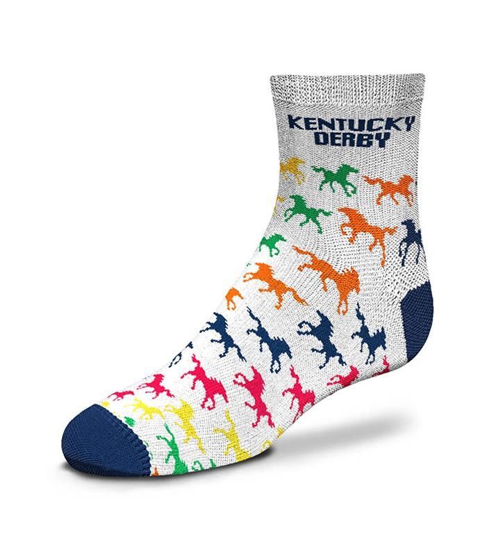 Kentucky Derby Patterned Horse Youth Sock,889536602366-903