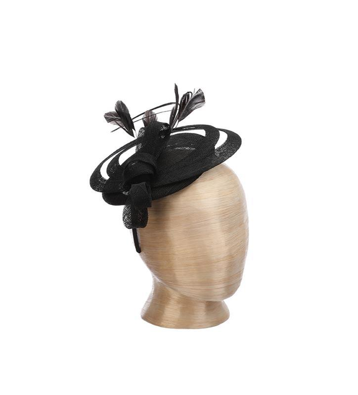 The Chelmsford Fascinator,LDF74-BLACK