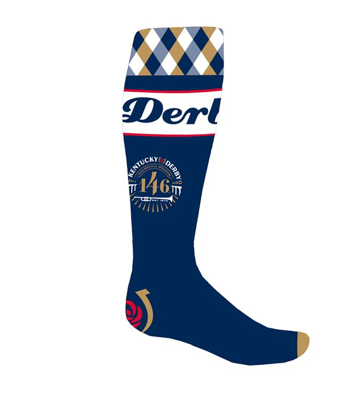 146 Kentucky Derby Event Logo Socks,KYA0092-27E