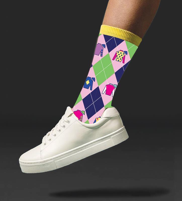 Kentucky Derby Silks Socks,KYA0066-28A