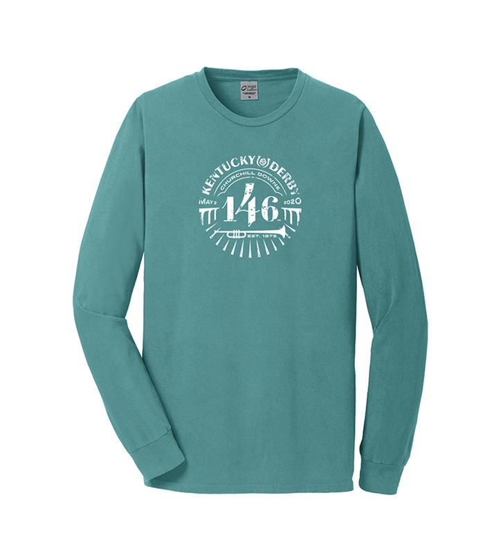 146 Kentucky Derby Event Long-Sleeved Logo Tee,KYM0108-7B