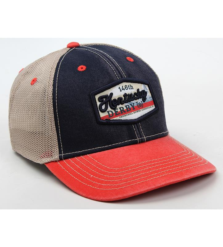 Kentucky Derby 146 Label Mesh Cap,C14TS3-146AH48