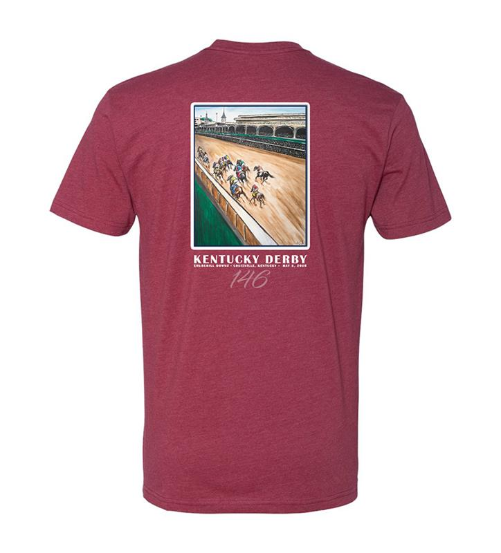 146 Art of the Derby Tee,Kentucky Derby 146-2020 Art of the Derby,AKY-M0031-2C