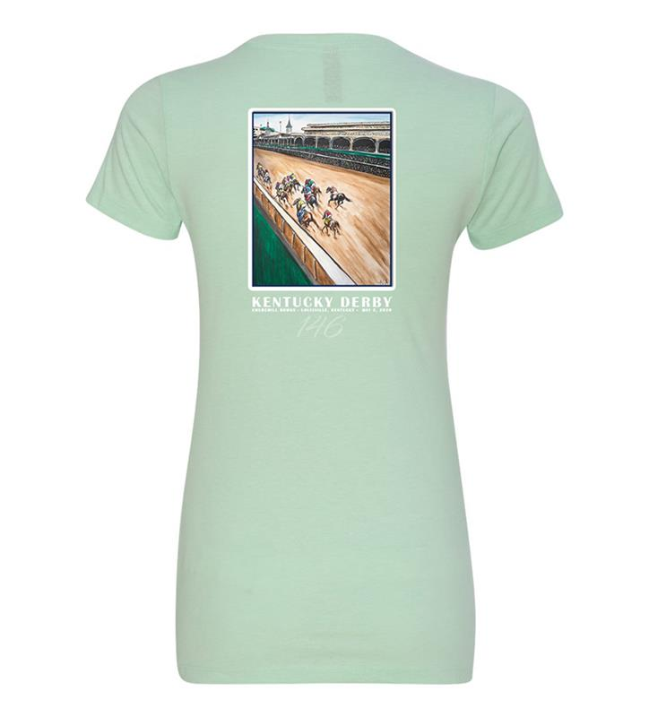 146 Art of the Derby Ladies' Tee,Kentucky Derby 146-2020 Art of the Derby,AKY-W0024-4C