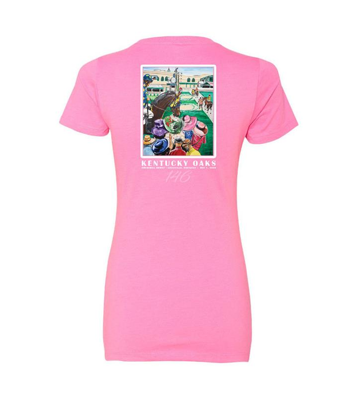 146 Art of the Oaks Ladies Tee,Kentucky Derby 146-2020 Art of the Derby,AKY-W0025-5A