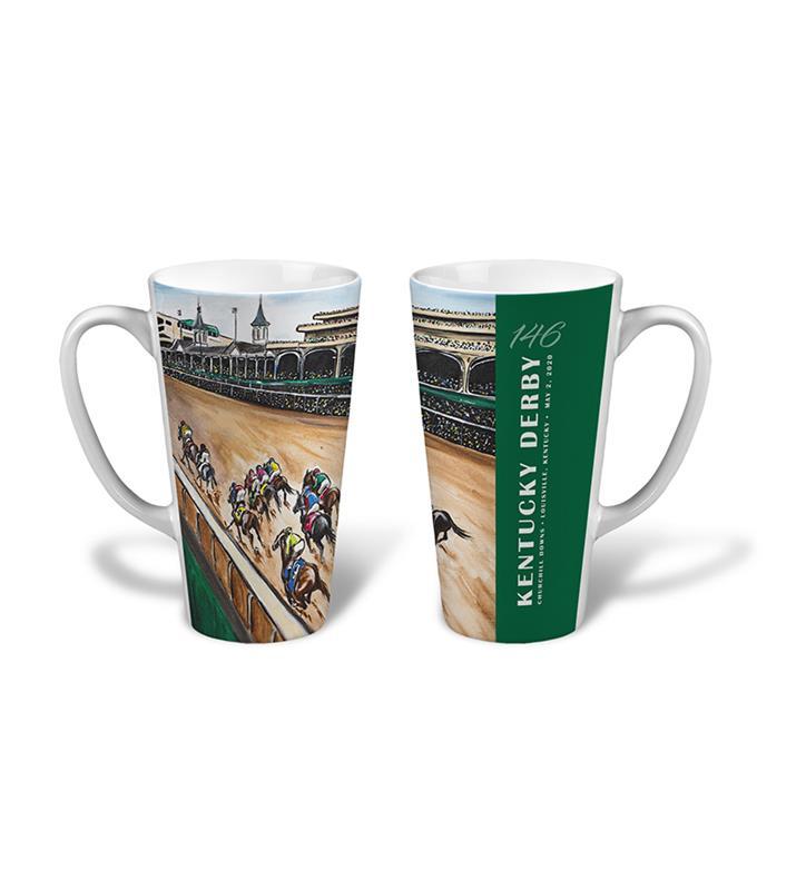 146 Art of the Derby Latte Mug,Kentucky Derby 146-2020 Art of the Derby,AKY-N0017-13B