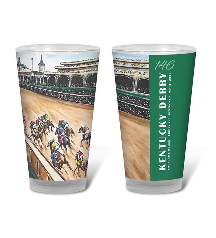 146 Art of the Derby Pint Glass,Kentucky Derby 146-2020 Art of the Derby,AKY-N0015-13C