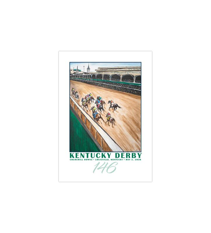 146 Art of the Derby Postcards,Kentucky Derby 146-2020 Art of the Derby,AKY-N0038-11A