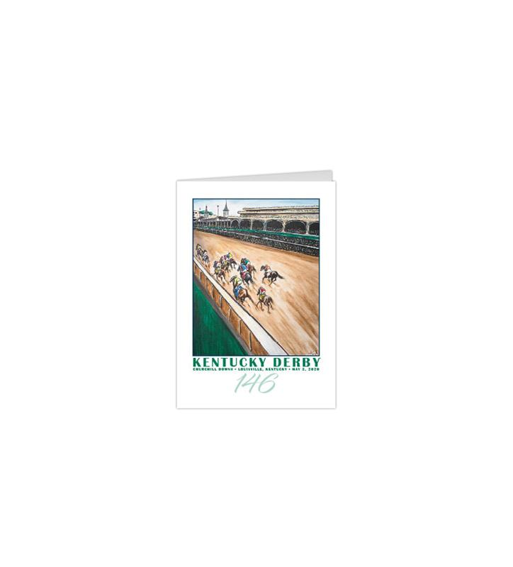 146 Art of the Derby Notecards,Kentucky Derby 146-2020 Art of the Derby,AKY-N0052-11B