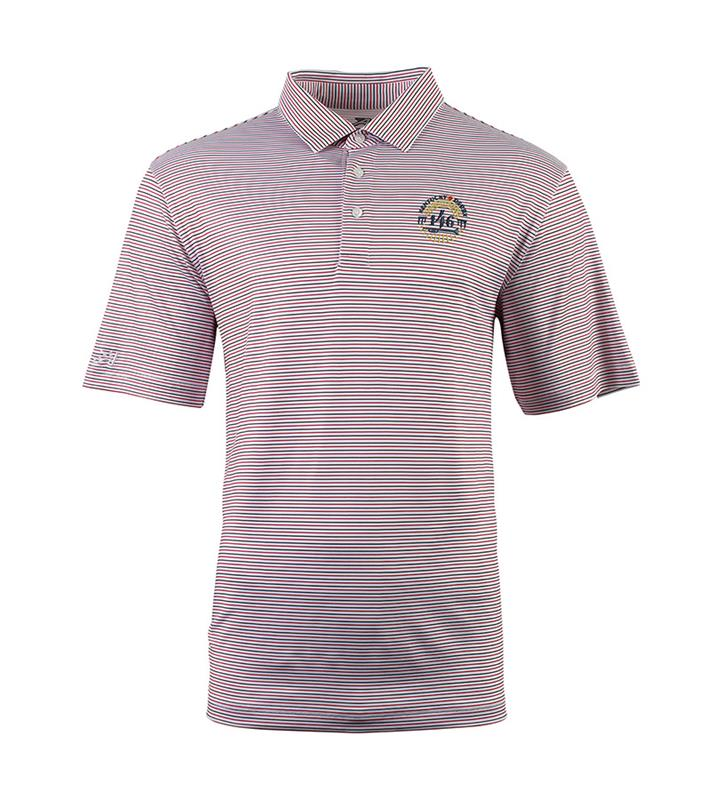 Mens Kentucky Derby 146 Marathon Tri Color Stripe Polo,AE21-3000