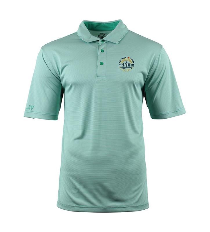 Mens Kentucky Derby 146 Bourne Stripe Polo,QD76-5955