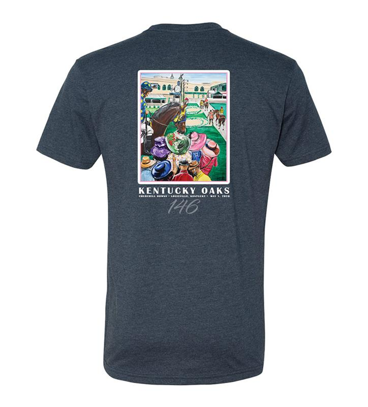 146 Art of the Oaks Tee,Kentucky Derby 146-2020 Art of the Derby,AKY-M0023-3B