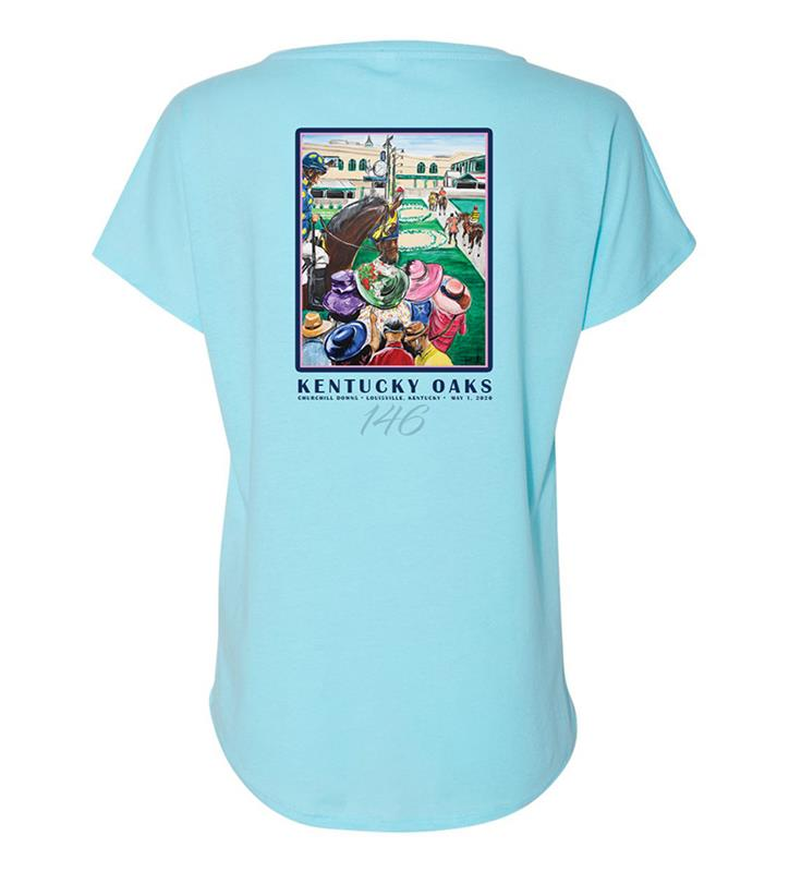 146 Art of the Oaks Ladies Loose Fit Tee,Kentucky Derby 146-2020 Art of the Derby,AKY-W0042-5C