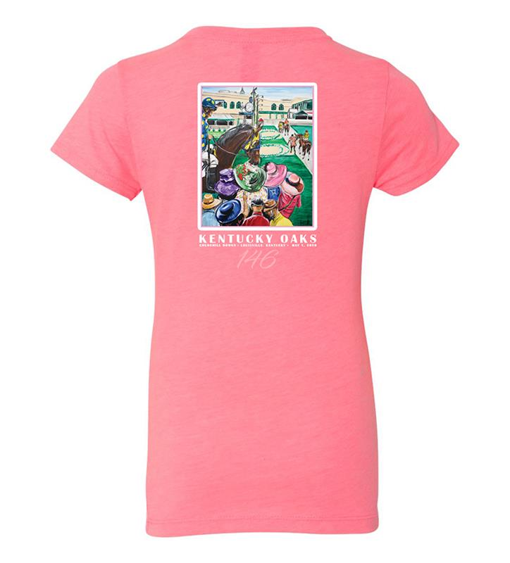 146 Art of the Oaks Girls' Crew Tee,Kentucky Derby 146-2020 Art of the Derby,AKY-Y0046-7C