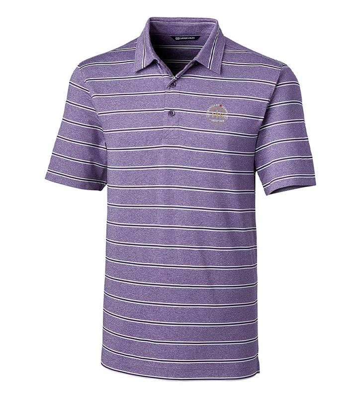 Kentucky Derby 146 Mens Forge Heather Stripe Polo,Cutter & Buck,MCK00112-MJS