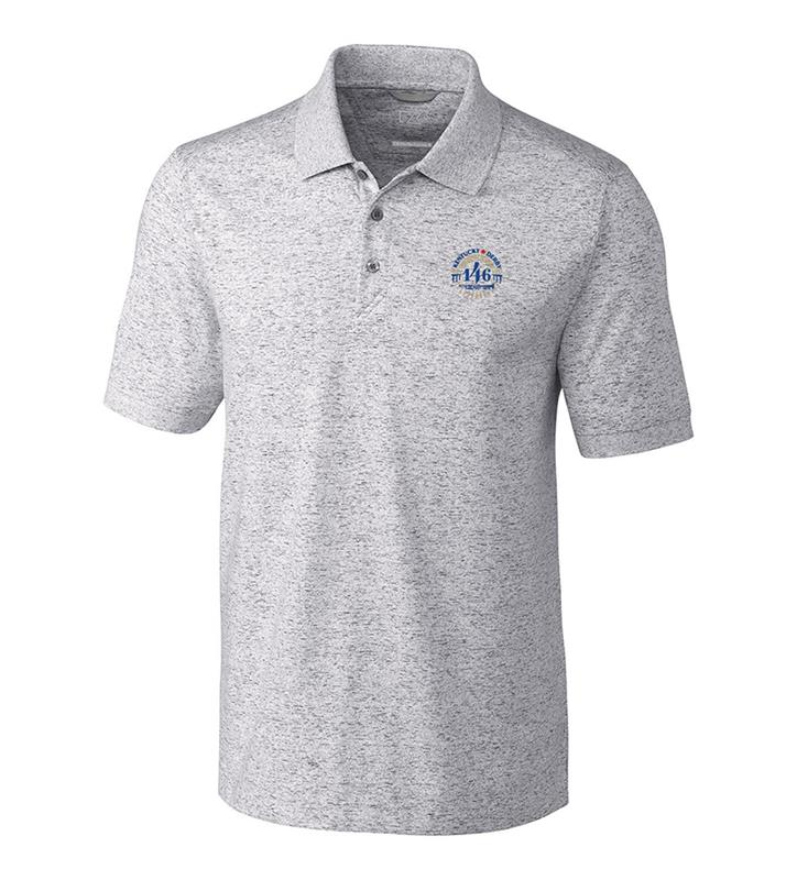Kentucky Derby 146 Mens Advantage Space Dye Polo,Cutter & Buck,MCK00117-EG