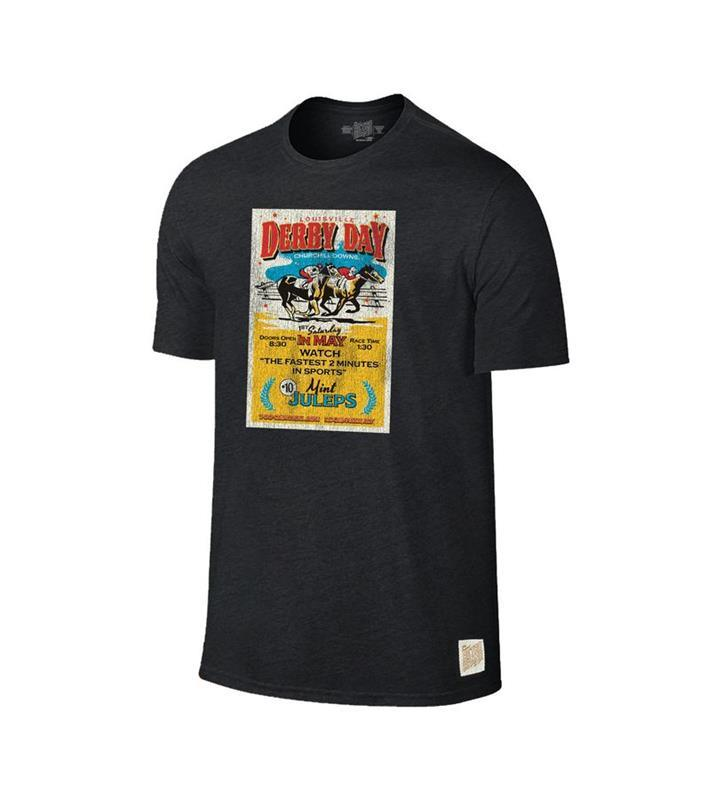 Louisville Derby Day Churchill Downs Vintage Ticket Tee,Retro Brands,RB120-082219LMN13
